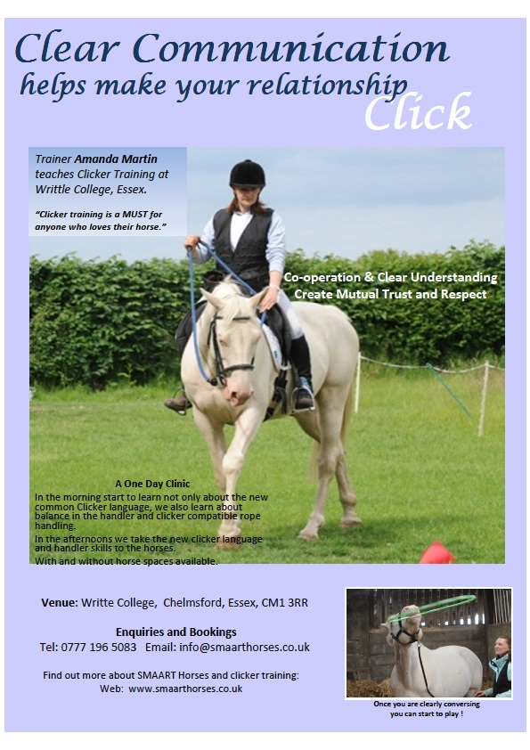Clicker Clinic at Writtle College 27 Aug 11